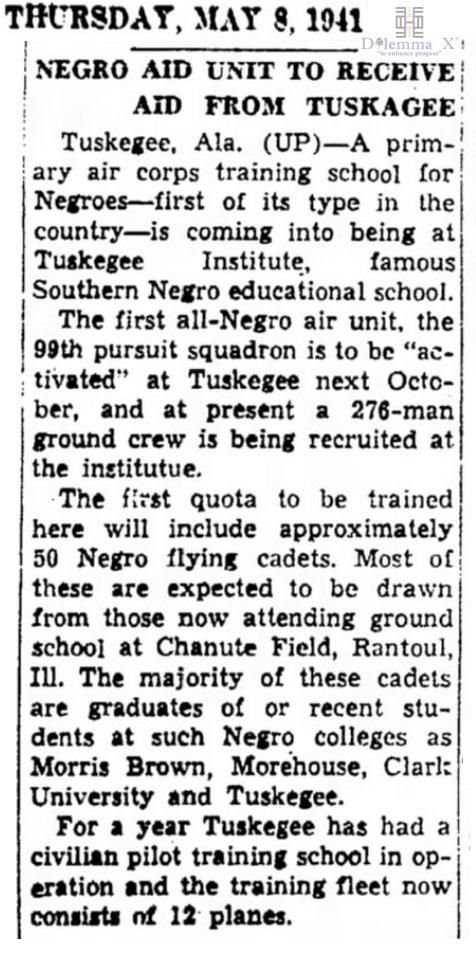 1941 Tuskegee Airmen