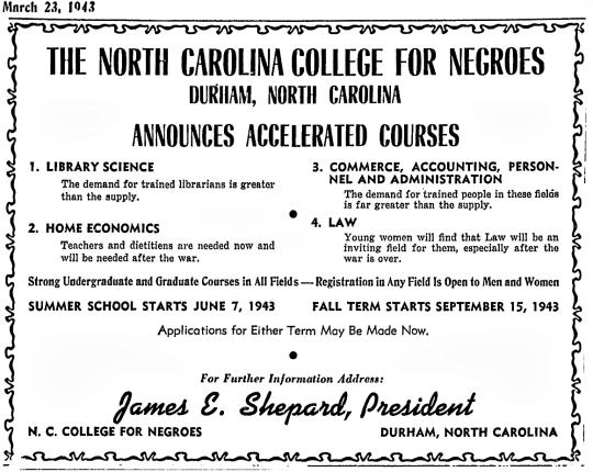 1943 NCCU