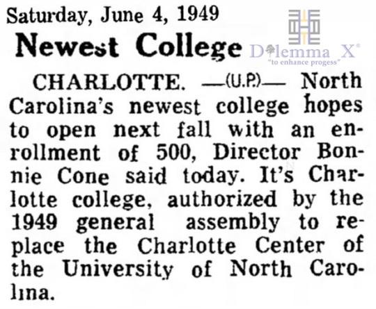 1949 UNC Charlotte