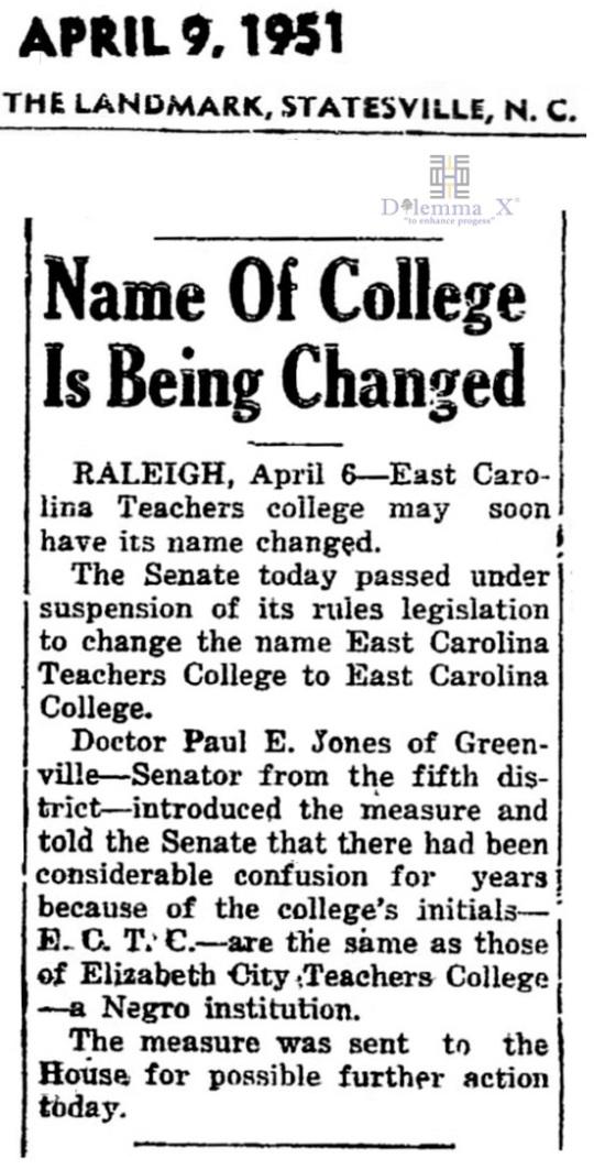 1951 East Carolina University