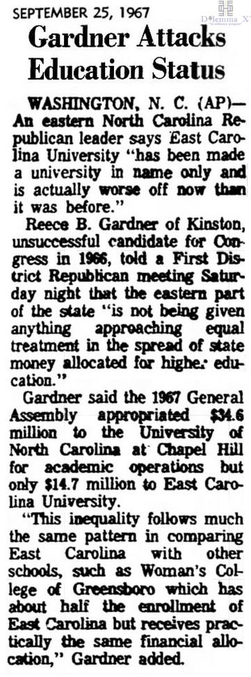 1967 East Carolina University