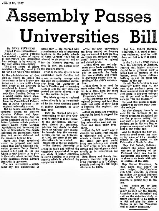 1967 UNC System