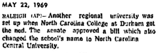 1969 NCCU