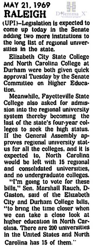 1969 UNC System