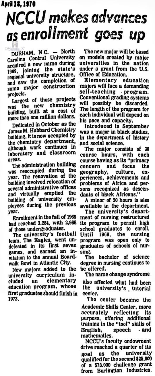 1970 UNC System