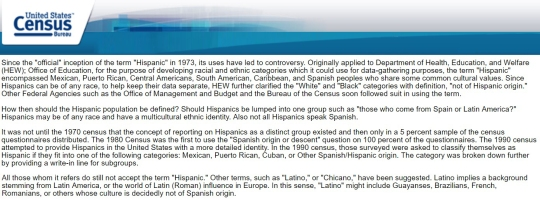 Hispanic Latino -US Census Bureau