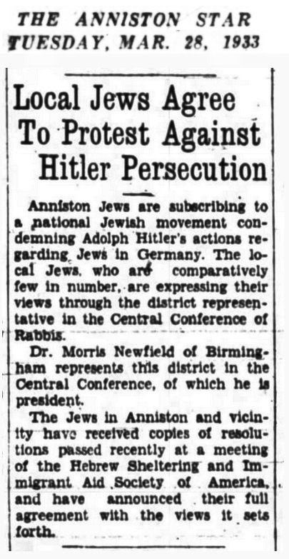 1933 Alabama American Jews