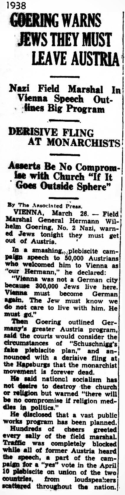 1938 Jews Austria