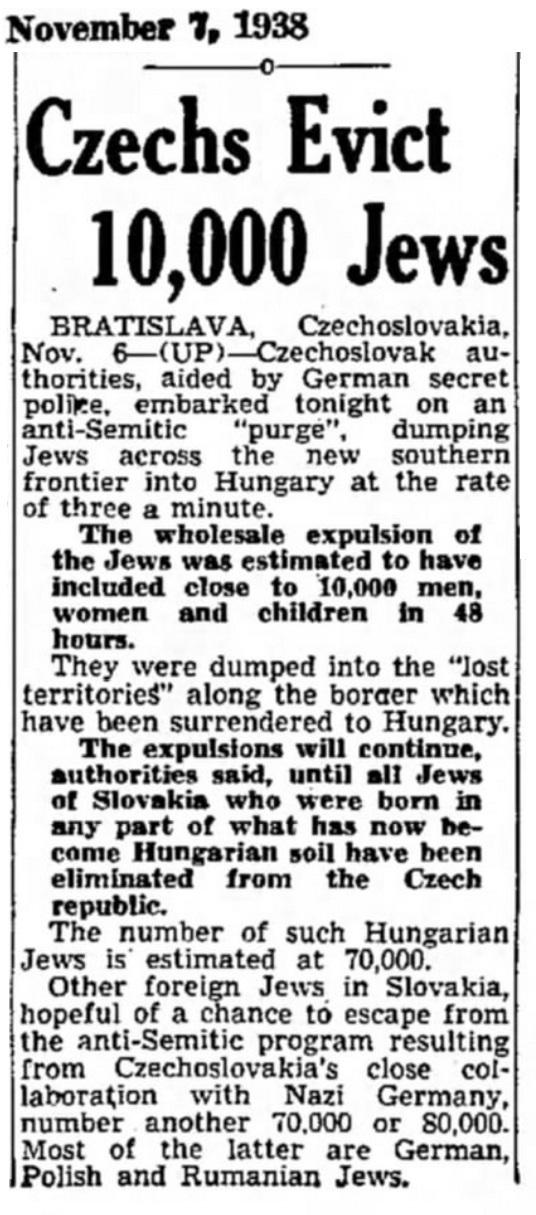 1938 Jews Czechoslovakia