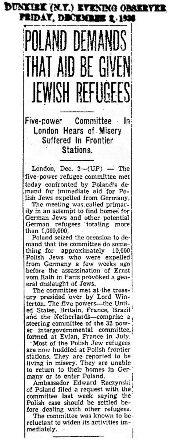 1938 Jews Expelled From Germany