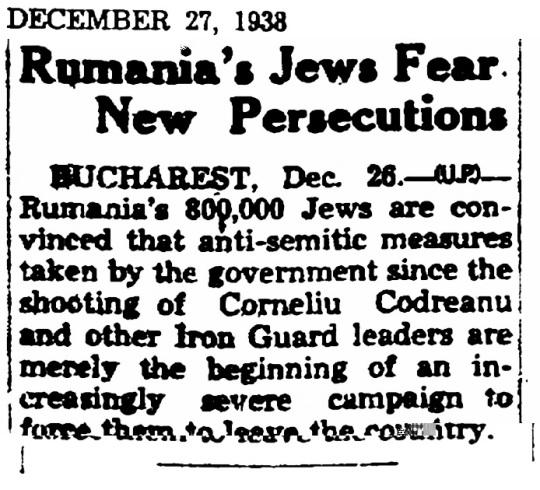 1938 Jews Romania