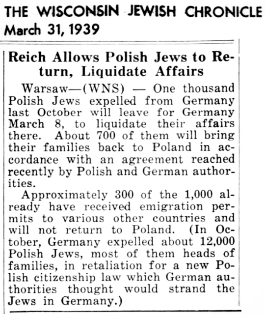 1939 Jews Return
