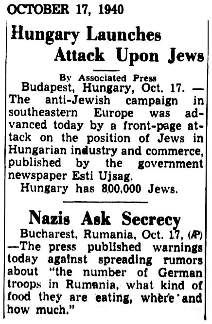 1940 Jews Hungary