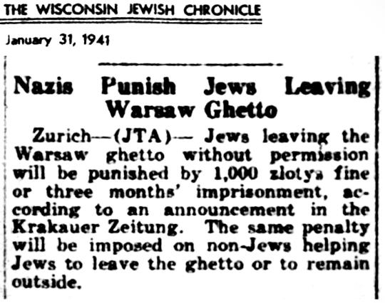 1941 Jews Punished