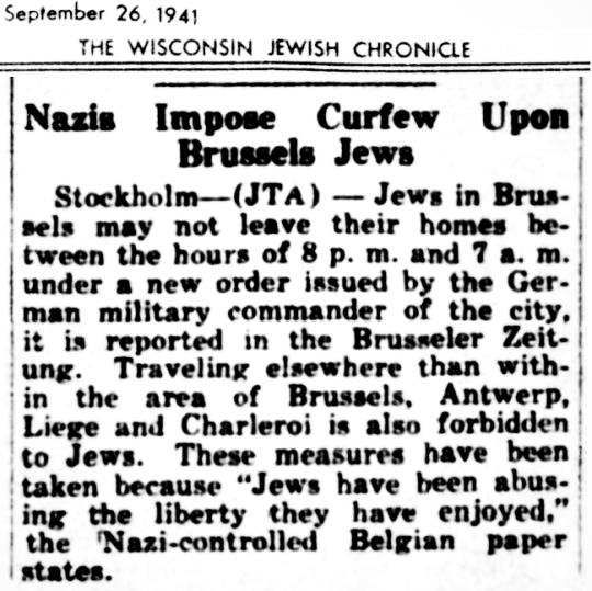 1941 Jews Brussels