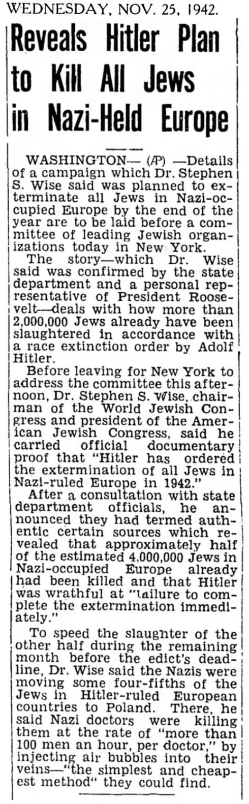 1942 Jews Hitler Plan