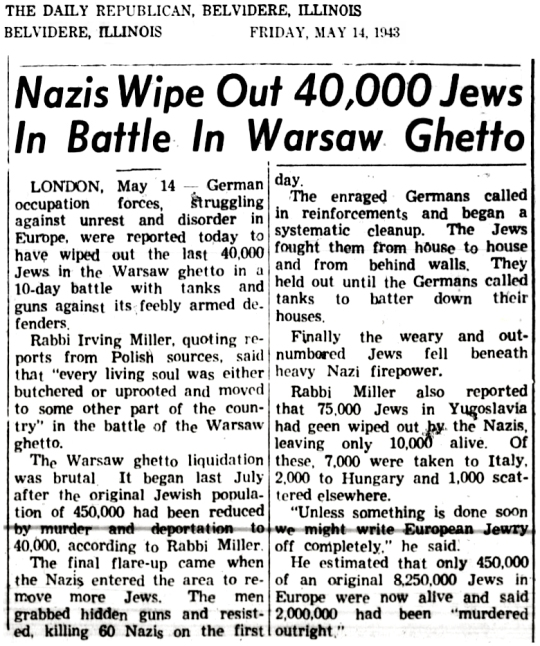 1943 Warsaw Ghetto