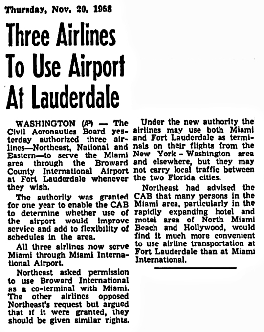 1958 Fort Lauderdale