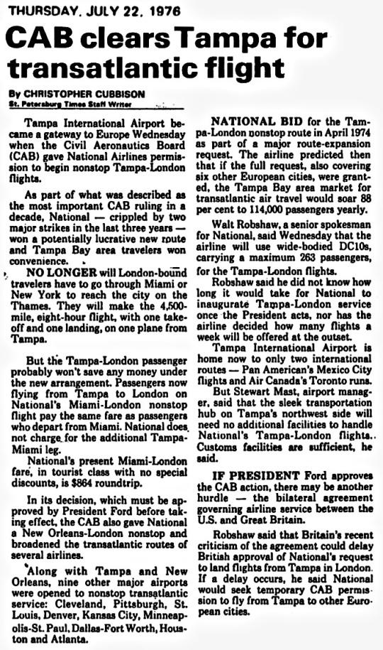 1976 Tampa