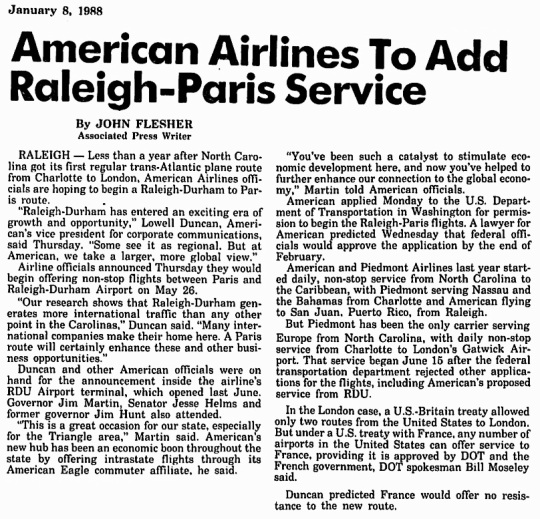 1988 Raleigh-Durham American Airlines Hub 01
