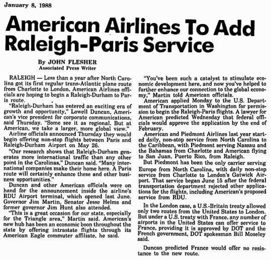 1988 Raleigh-Durham American Airlines Hub 01
