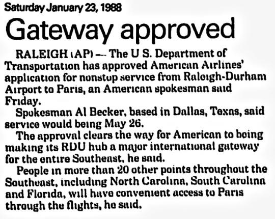 1988 Raleigh-Durham American Airlines Hub 02
