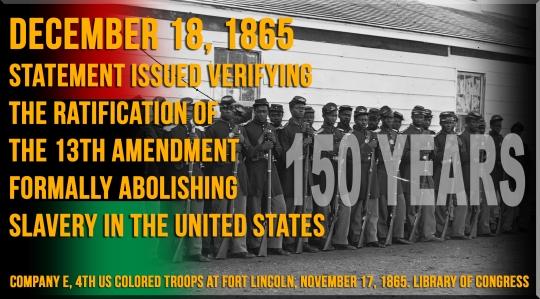 13th Amendment 150 years