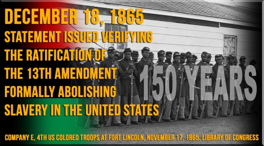 13th Amendment 150 years