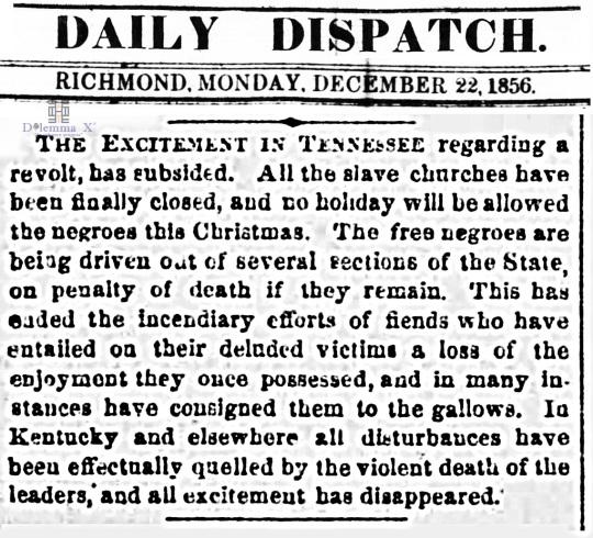 1856 Christmas Slavery
