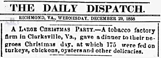 1858 Christmas Slavery