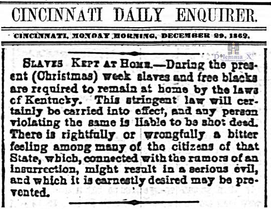 1862 Christmas Slavery