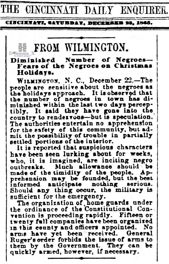 1865 Christmas Slavery
