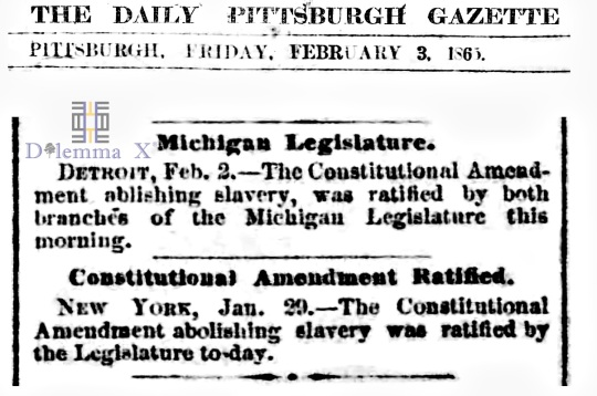 February 3 1865 Michigan New York