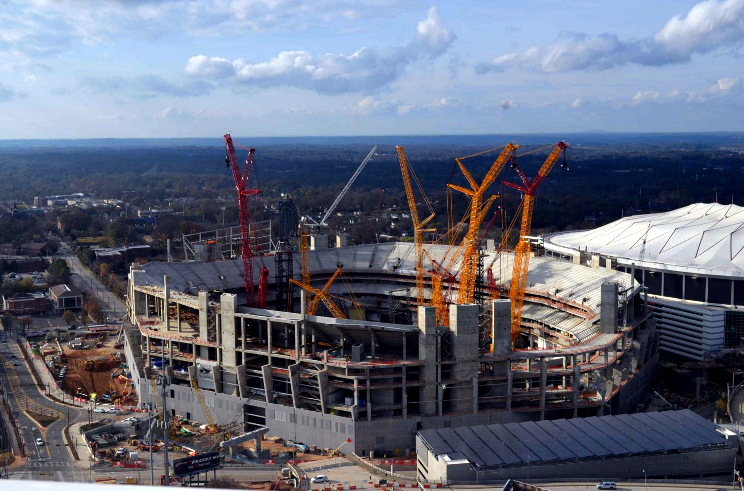 Nfl and mlb atlanta and minneapolis new stadiums update for Mercedes benz stadium parking