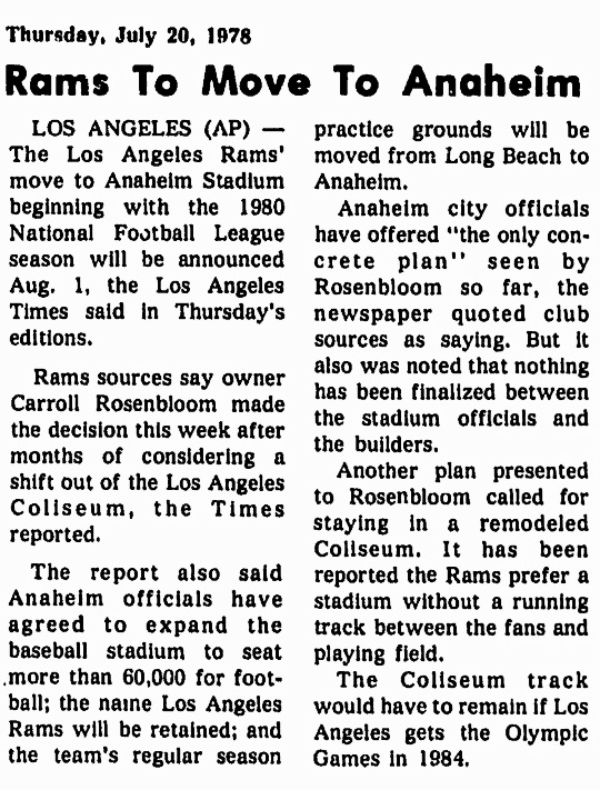 Los Angeles Rams 1978