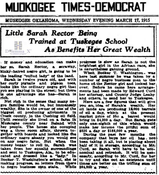 1915 November 17 Sarah Rector
