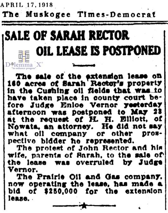1918 April 17 Sarah Rector