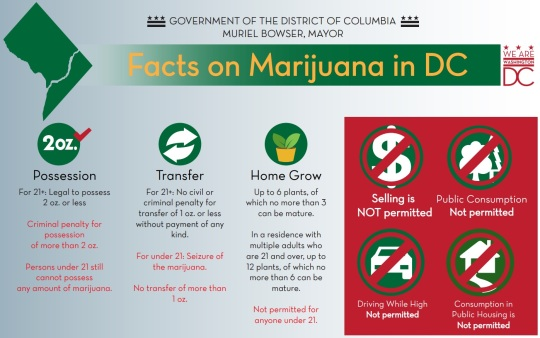 District of Columbia Marijuana Laws and Rules