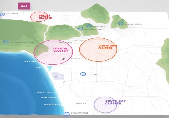 Los Angeles 2024 Olympic Games Map