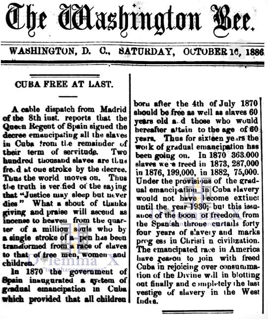 Cuba Slavery 1886