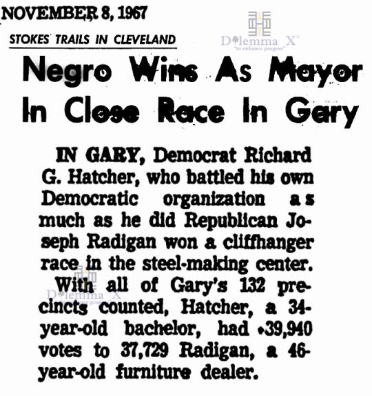 Richard Hatcher First black mayor Gary 1967