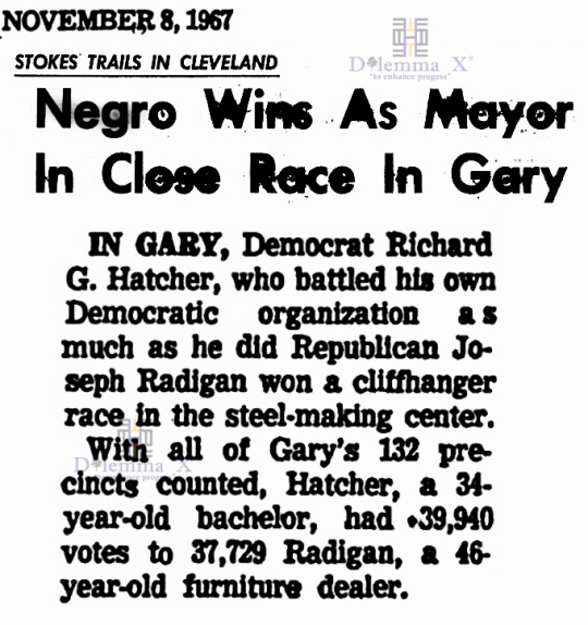 Richard Hatcher First black mayor Gary 1967