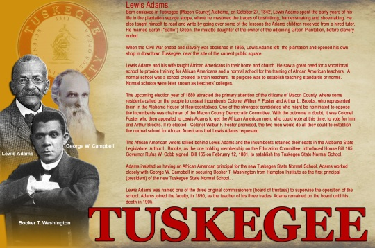 Tuskegee Founder Louis Adams