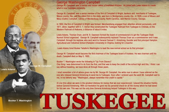 Tuskegee George W Campbell