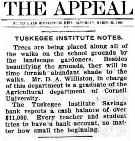 Tuskegee Institute -Tuskegee University 1903