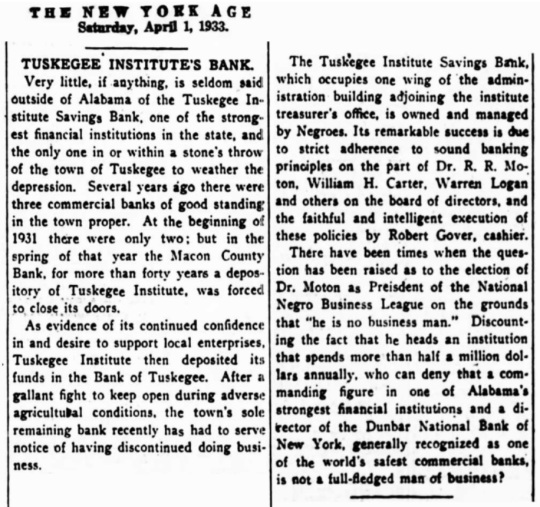Tuskegee Institute -Tuskegee University 1933