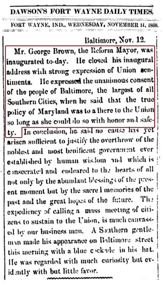 Baltimore 1860