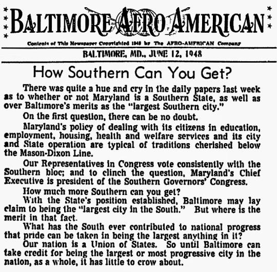 Baltimore 1948