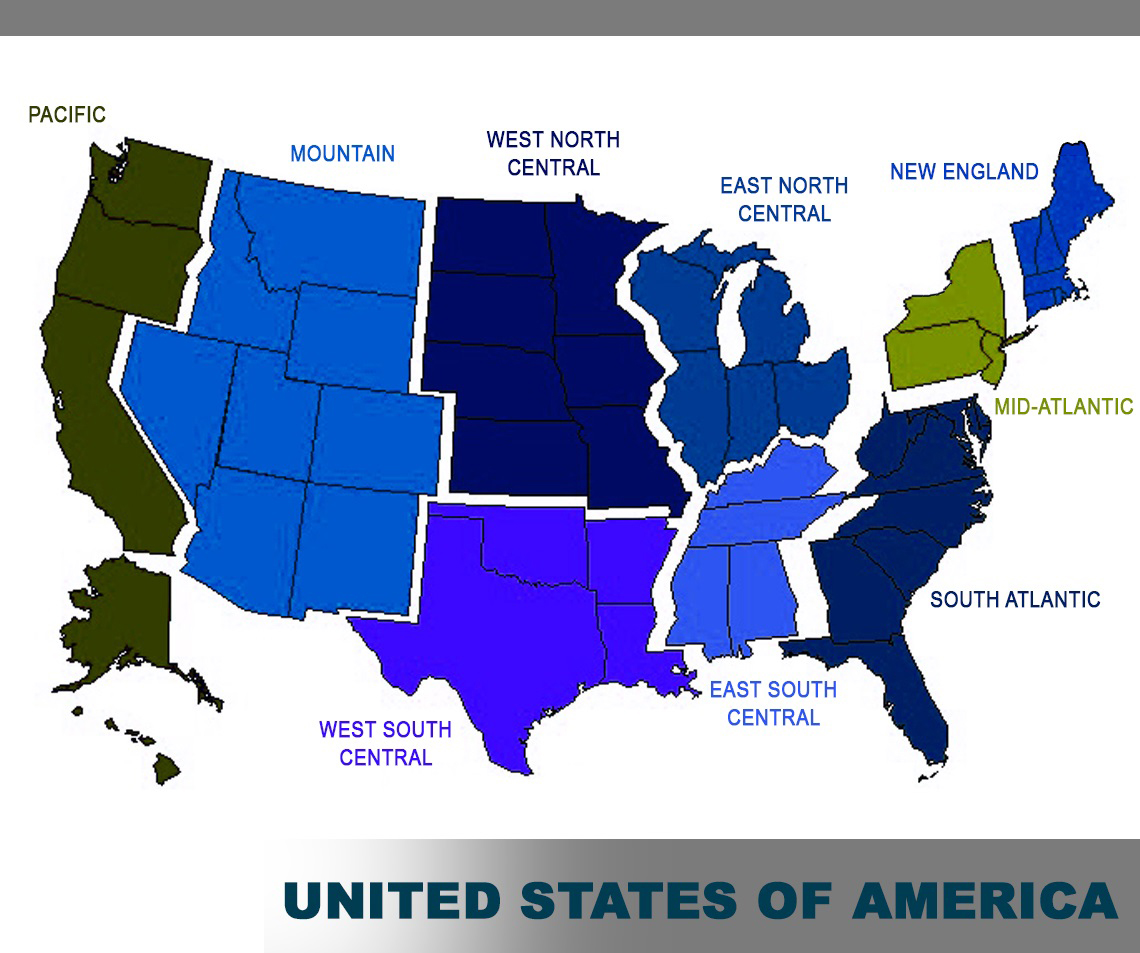 geographical regions of the united states us map us map