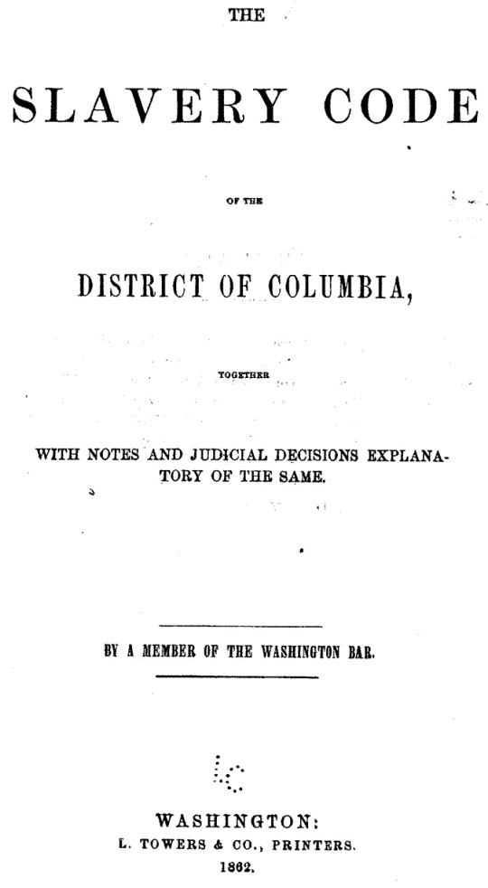 District of Columbia Black Codes
